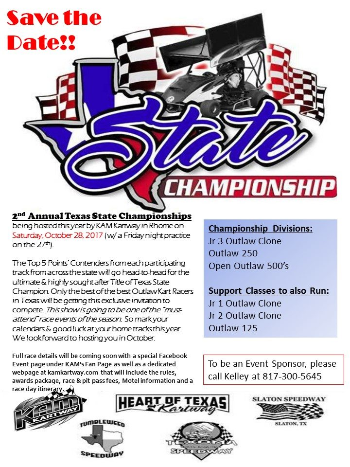 Texas State Championship save the date flyer