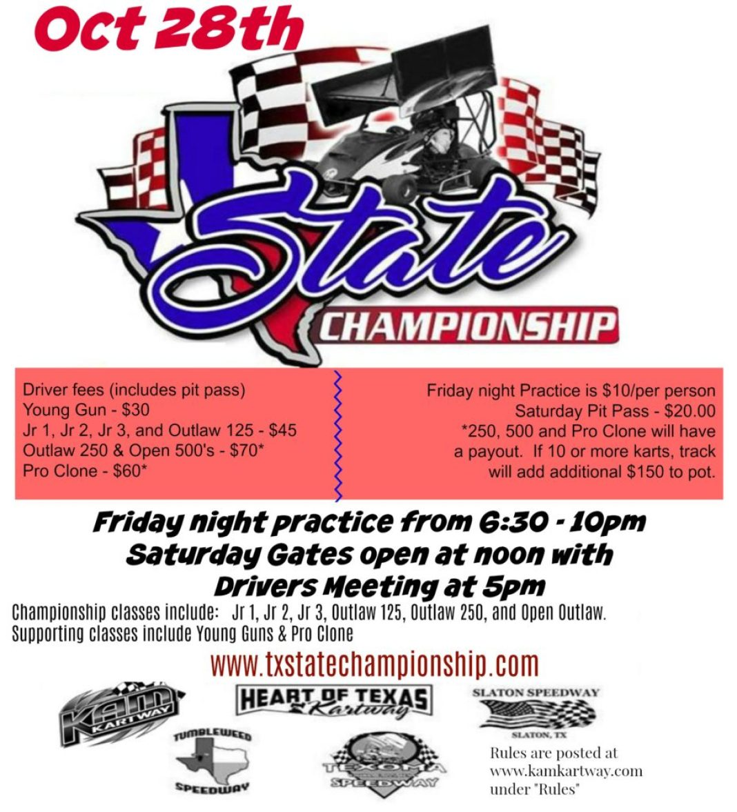 Texas State Championship flyer