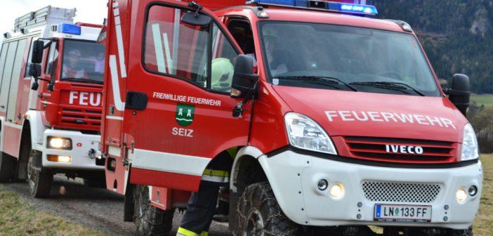 Übung der Feuerwehrjugend Seiz