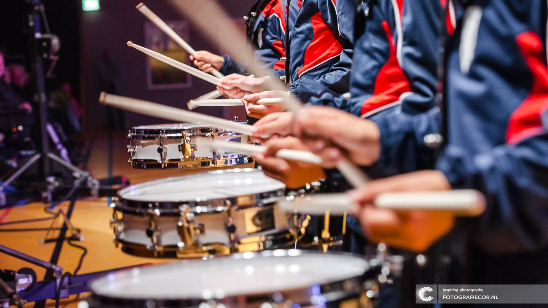 Nieuwjaarsreceptie | KTK Music Kidz | slagwerk | trommel spelen | Kamper Trompetter Korps | © Fotografiecor.nl