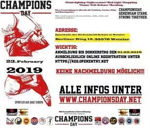 RED DRAGON Champions Day Info