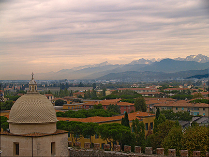View from top of Leaning Tower