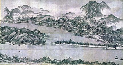 Sesshu Toyo's View of Amano-hashidate