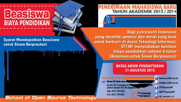 Beasiswa STT Terpadu Nurul Fikri