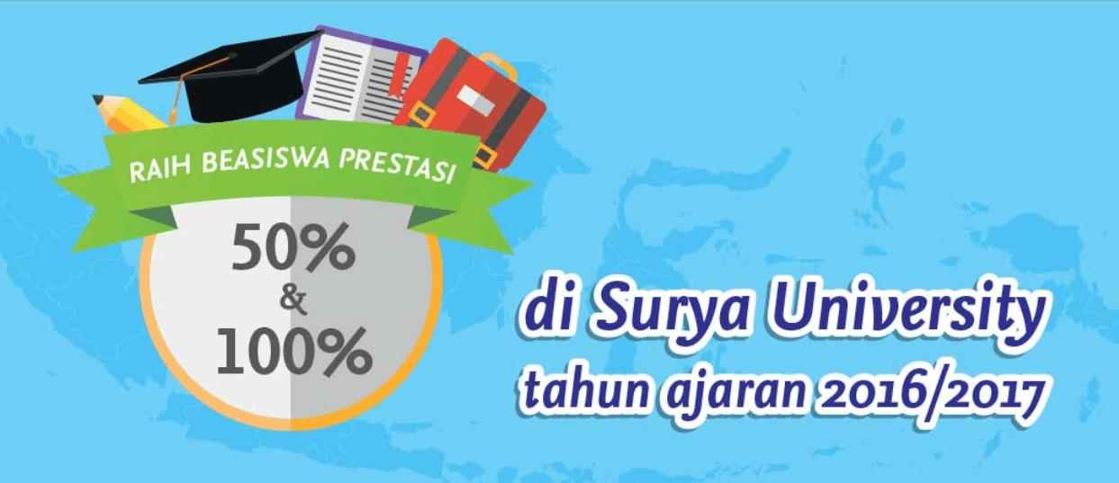 Beasiswa Surya University 2016
