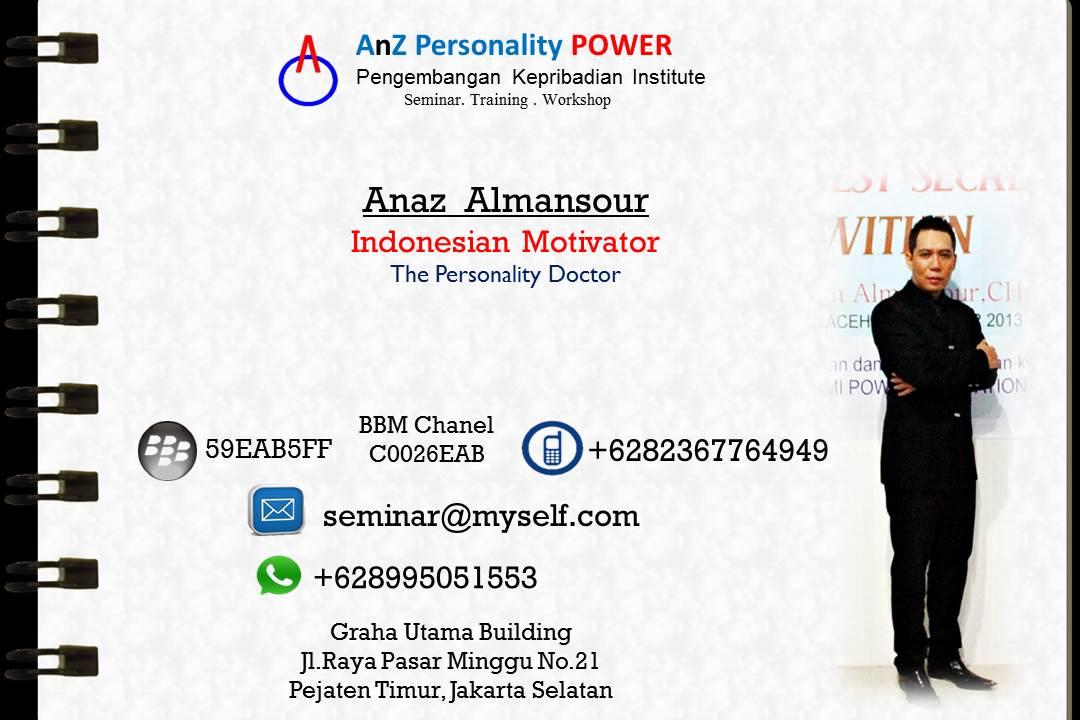 "Anaz Almansour: Dari Aceh Melenggang Sebagai ""Dokter Kepribadian"" Nasional"