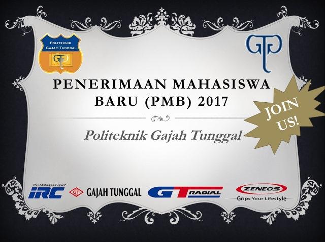 Beasiswa Politeknik Gajah Tunggal 2017