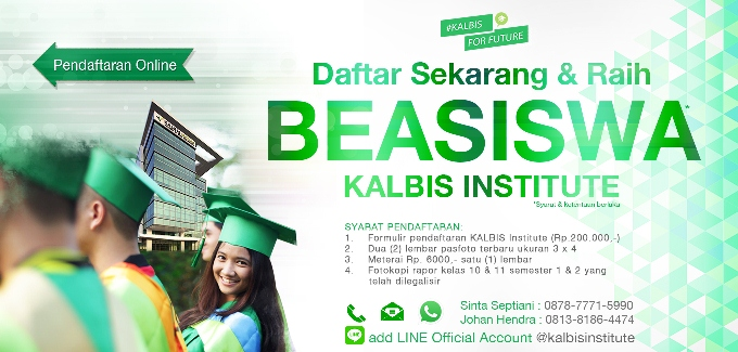 Beasiswa Kalbis Institute 2017