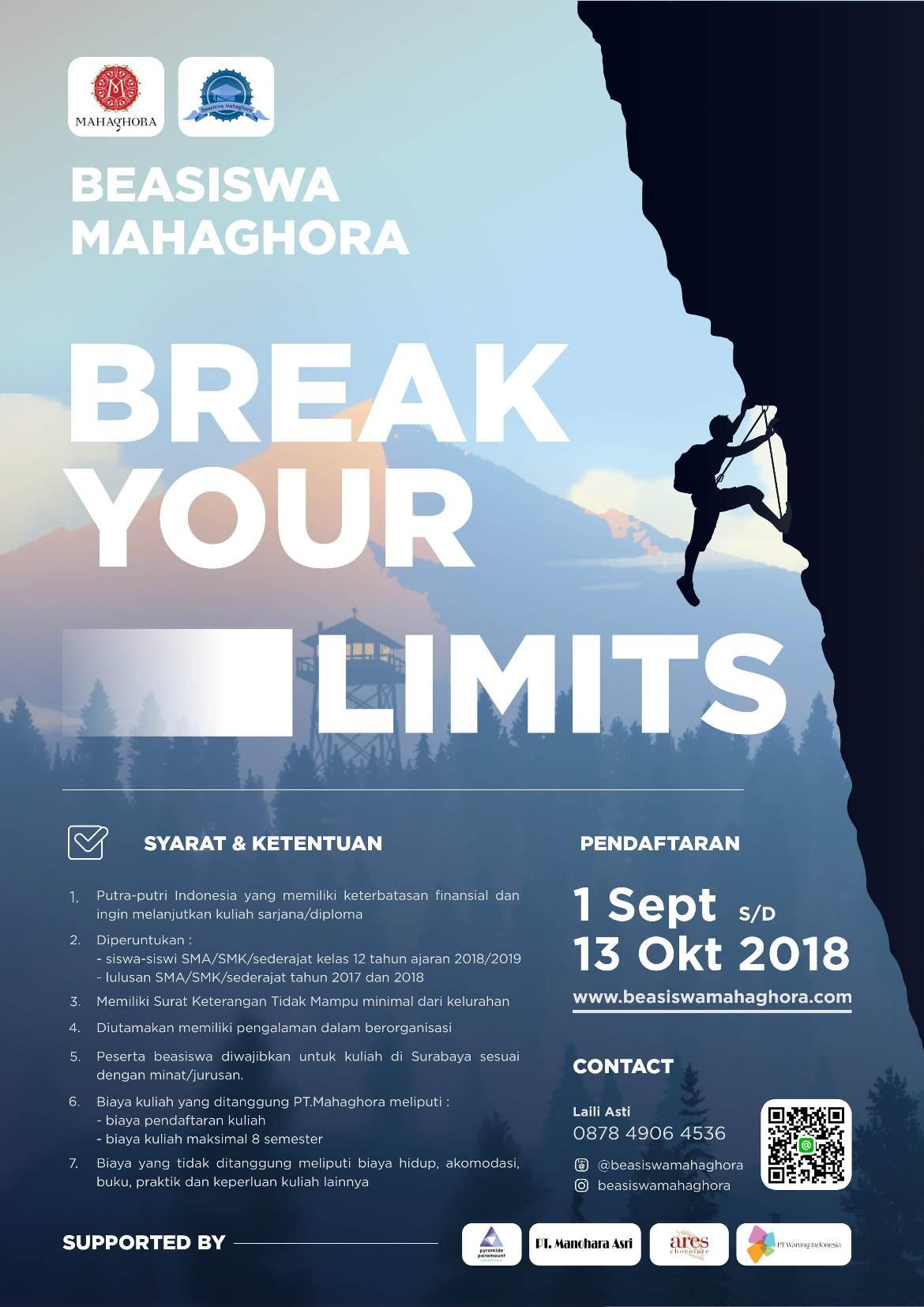 Beasiswa Mahaghora 2018 Batch 2