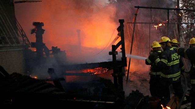 Alev Alev yanan İsrail'den Türkiye'ye teşekkür