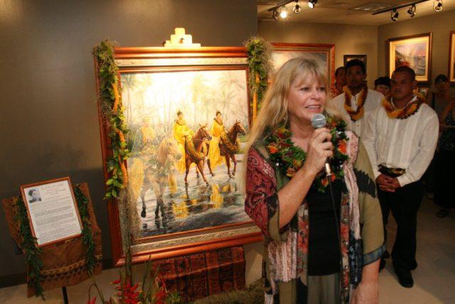 Photos from Ka Ho'oilina Mō'ī unveiling ceremonies, May 18, 2012, Waikīkī. Photos: Blaine Fergerstrom
