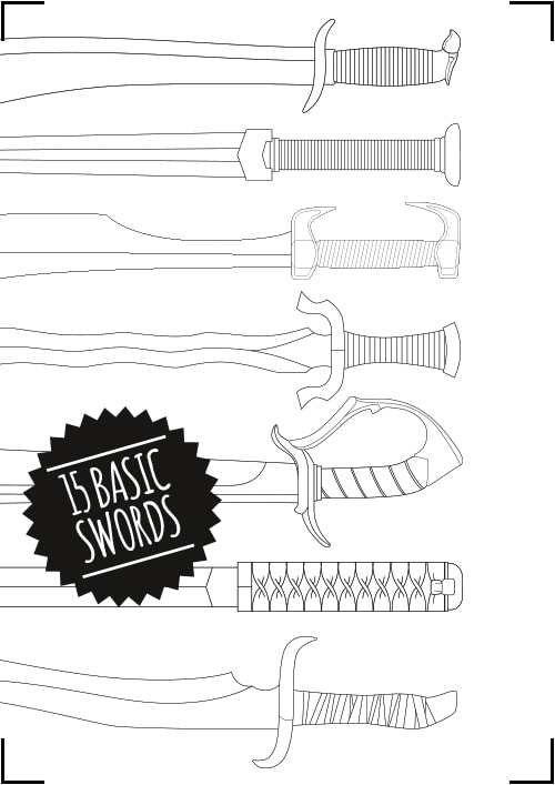 Basic Sword Pattern Collection Blueprint Download
