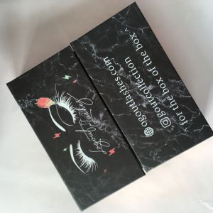 Custom Marble Lash Box With Logo