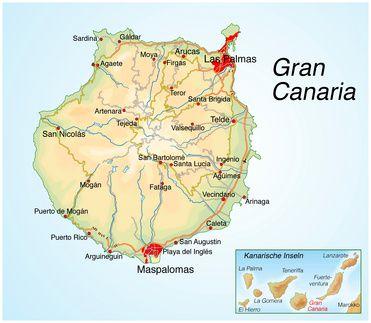 Landkarte Gran Canaria