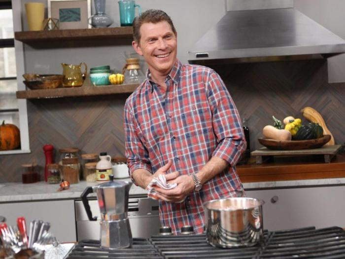 Bobby Flay in the kitchen