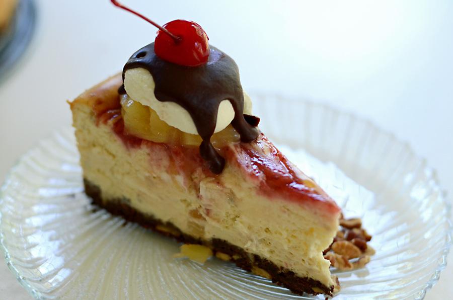 Banana Split cheesecake slice 3