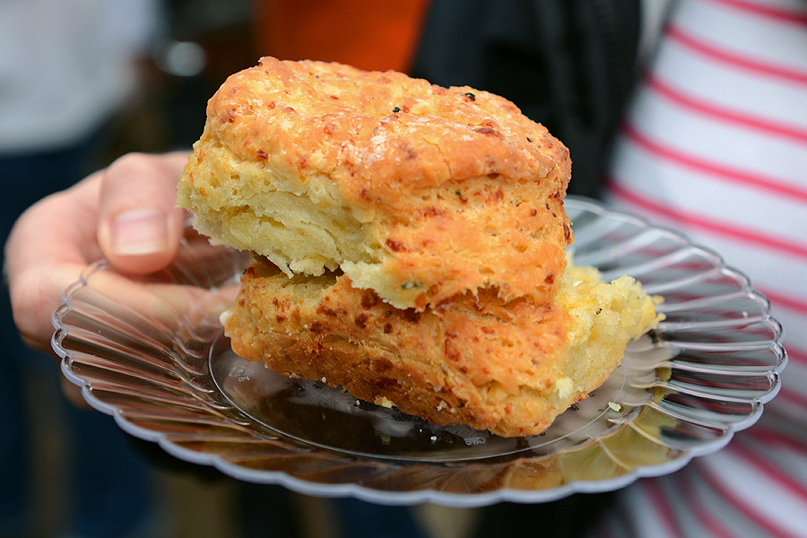 Green Eyed Monster Pimento Cheese biscuit