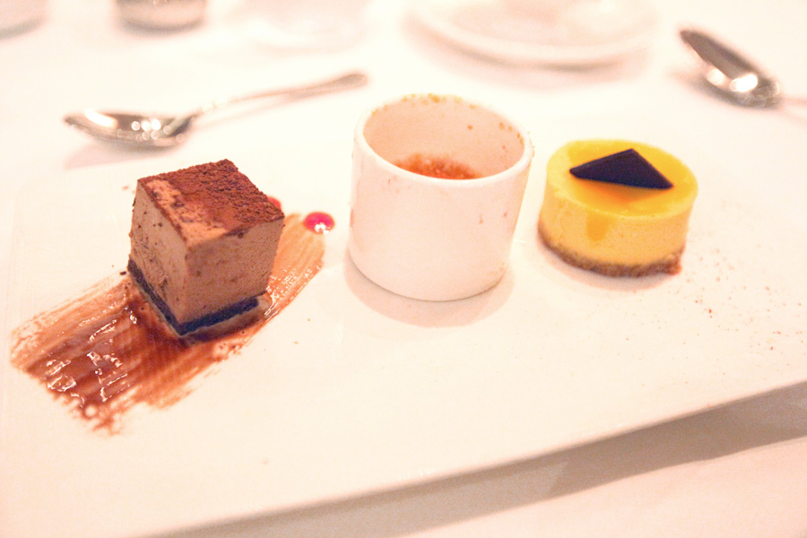 Sweet Temptations dessert trio