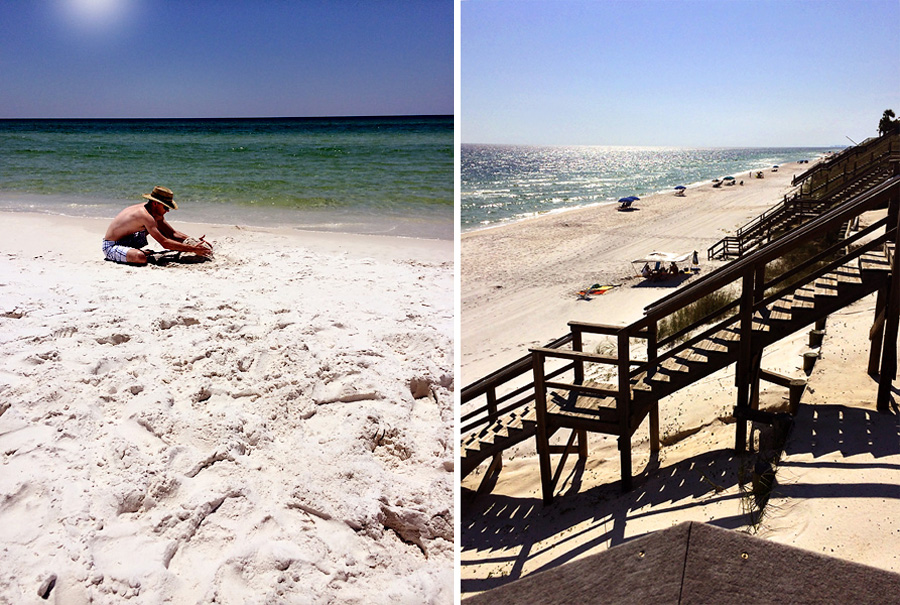 Seagrove Beach - Stairs & Sandcastles