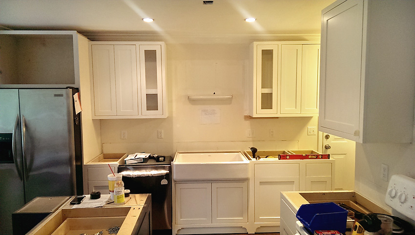 Kitchen Remodel Custom Cabinets sink wall