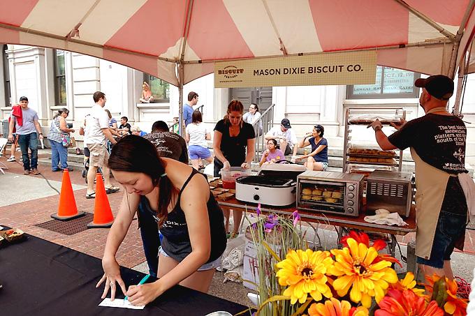 2015 International Biscuit Fest Mason Dixie Tent