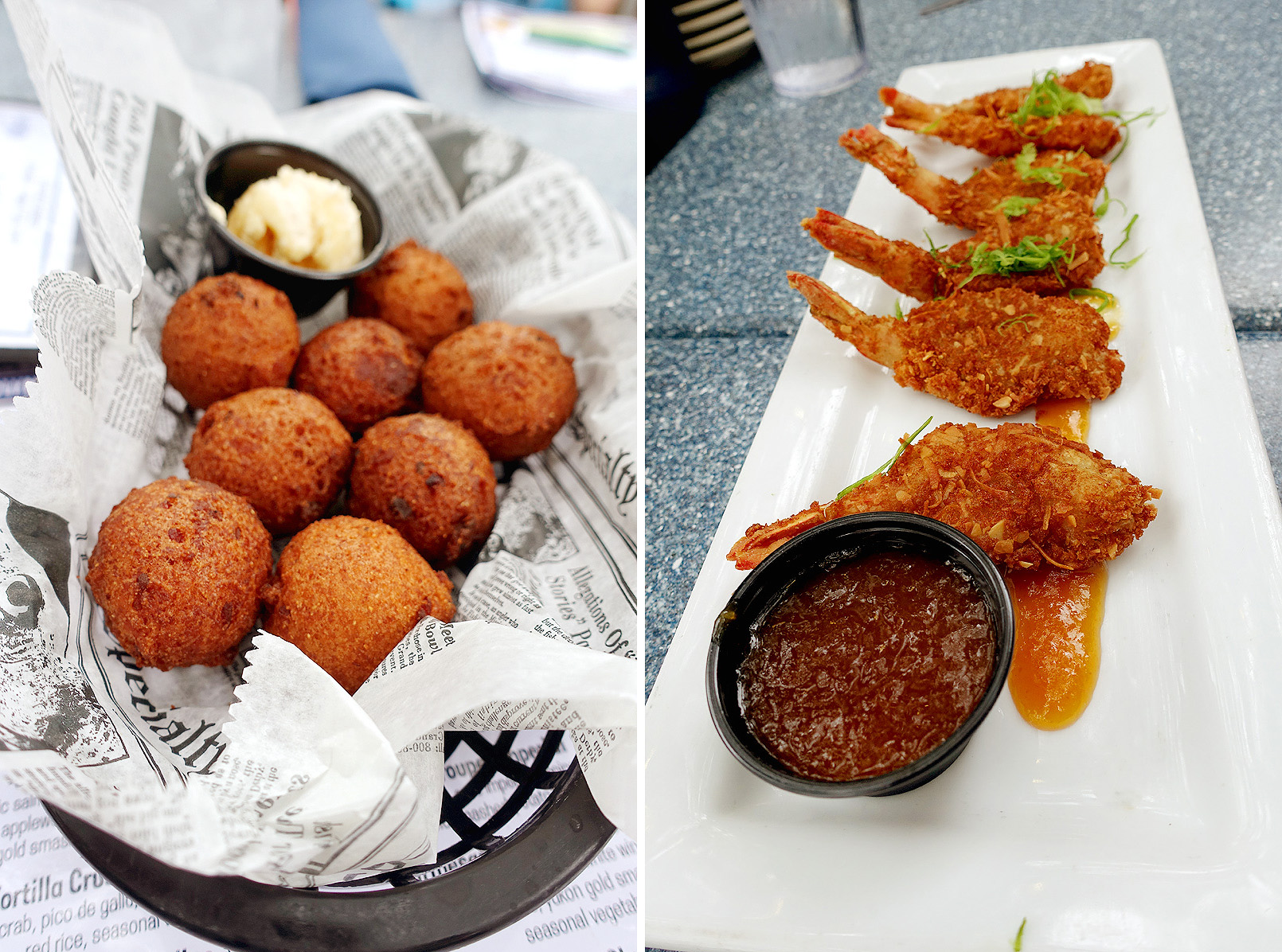 Skull-Creek-Boathouse-Hush-Puppies-and-Coconut-Shrimp