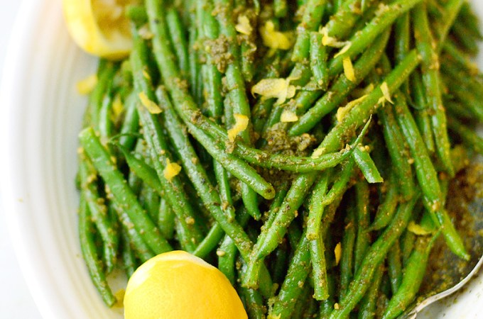 Herby Dill, Garlic, & Lemon Green Beans