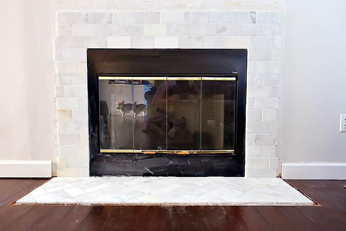Fireplace Makeover Building A New Mantel