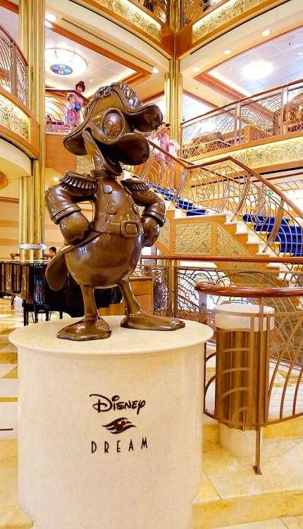 3-Day-Disney-Bahamian-Dream-Cruise-Atrium-Donald-Statue