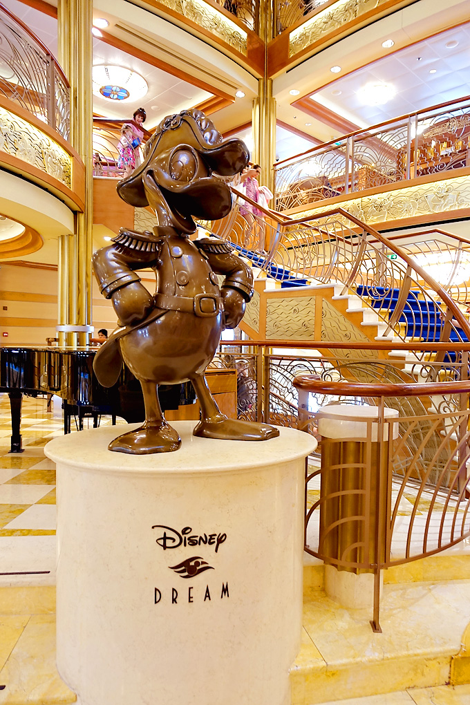 3-Day-Disney-Bahamian-Dream-Cruise-Atrium-Donald-Statue