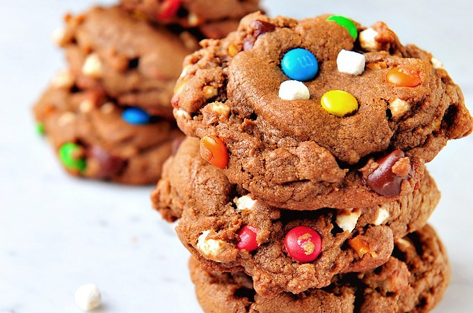 Chocolate Snack Monster Cookies