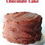 Mostly Vegan Chocolate Cake