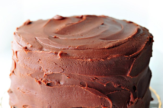 Mostly Vegan Chocolate Cake