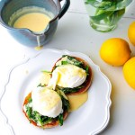 Vegetarian Eggs Benedict with Dairy Free Hollandaise