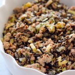 Sausage and Apple Wild Rice Dressing