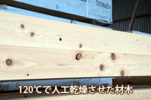 人工乾燥させた材木