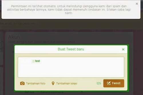 akun twitter diblokir