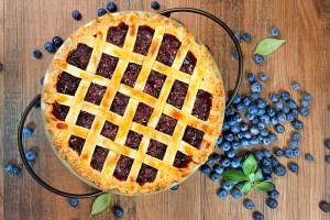 Grandma's Mouth-Watering Famous Blueberry Pie