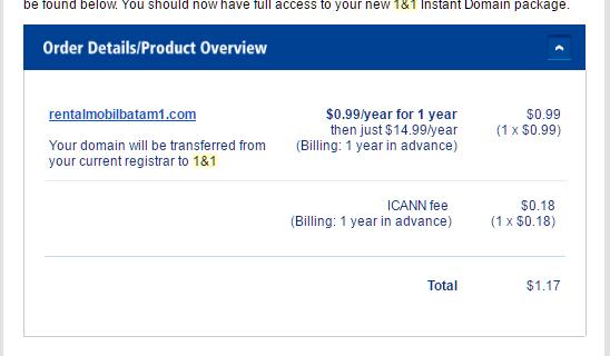 pendaftaran domain di 1&1.com