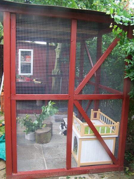 Kaninchen Info Aussengehegebau Rotes Aussengehege 2