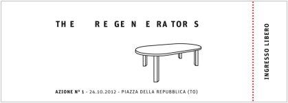 Irene Pittatore + Annelies Vaneycken - The regenerators - 2012 (recto)