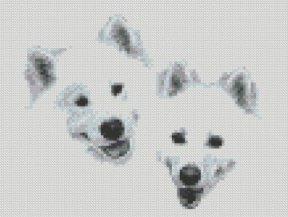 Samoyed_friends_cross_stitch