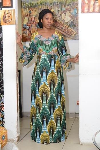 longue robe en pagne kankira