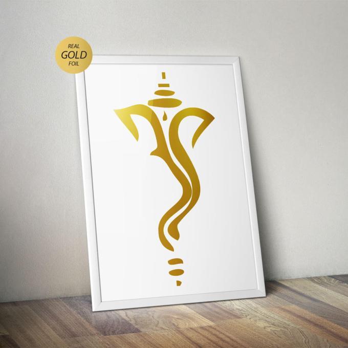 Ganesh Wall Art, Gold Foiled (GFW14)