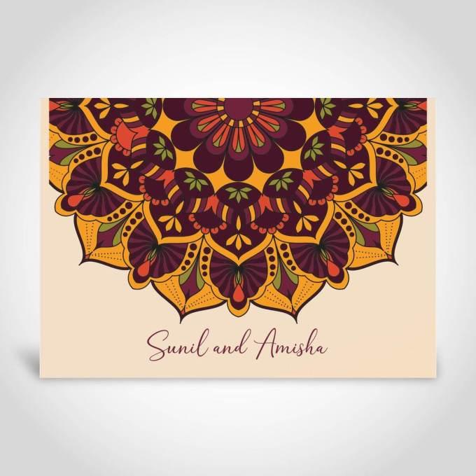 Mandala Indian Wedding Card – CFK147