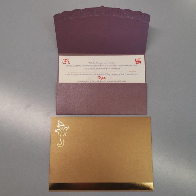 Purple Hindu Wedding Card – CFK10
