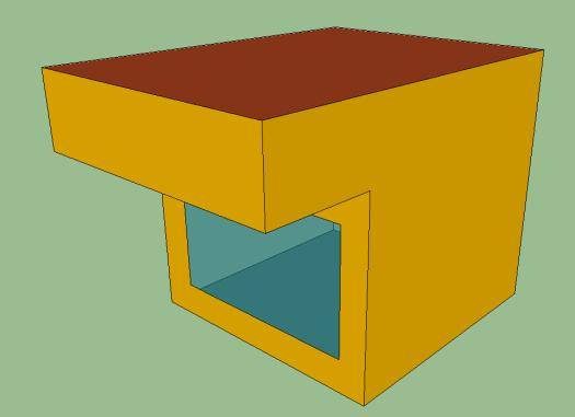 建物の一部が日射遮蔽になるモデル