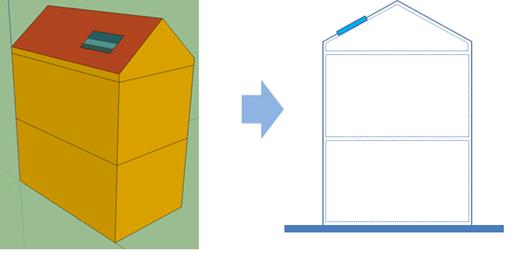 吹き抜けの空間を上下2つのAirnodeとしてモデリング