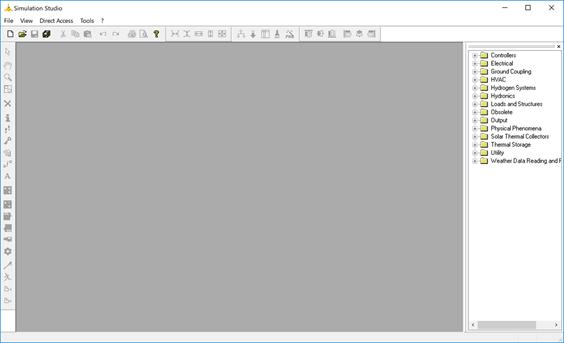 Simulation Studioのアイコンやメニューが大きく表示される