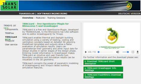 Transsolar社のTRNLizardの紹介サイト